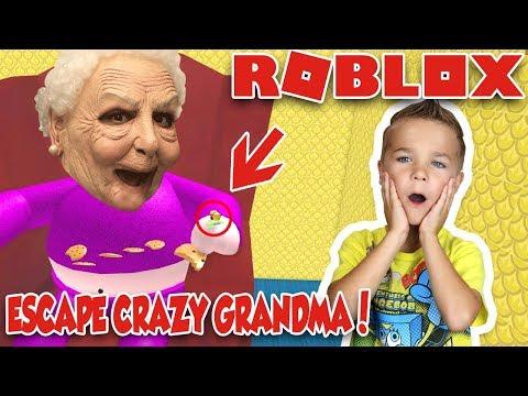 CRAZY GRANDMA WANT TO EAT ME! ESCAPE GRANDMAS HOUSE OBBY! (ROBLOX)