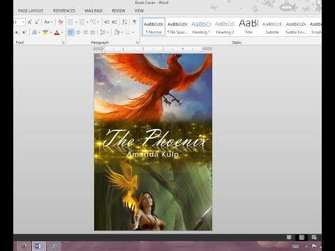 How to Make Your Own Book Cover Using MS Word thumbnail