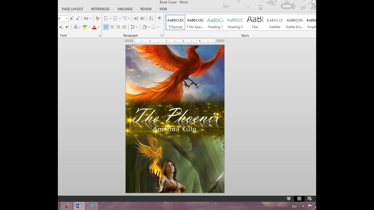 How To Make A Book Cover Page ~ How to make your own book cover using ms word youtube