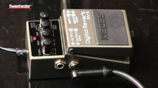 boss rv 5 digital reverb pedal review by sweetwater sound