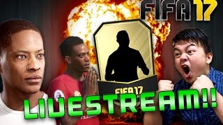 FIFA 17 LIVESTREAM!! LIVE PACKS OPENING!! ONLINE FUTDRAFTS SQUAD BUILDING CHALLENGES!