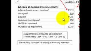 Consolidated Cash Flow Statement (Noncash Investing & Financing Schedule)
