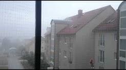 Windhose über Halle Saale OT Lieskau