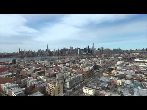 Drone Flight Greenpoint Brooklyn
