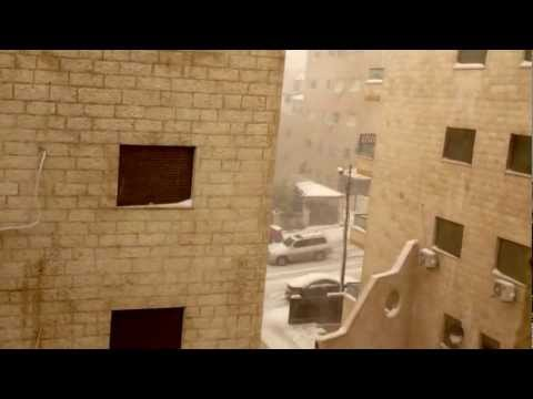 The snow storm in amman Jordan from my apartment