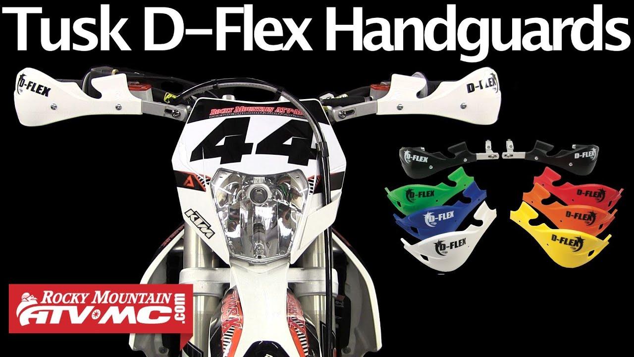 Tusk MX D Flex Handguards Replacement Hand Shields D-Flex Hand Guards Blue