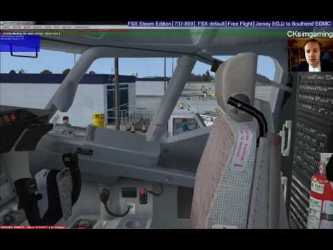FSX Flight from Jersey EGJJ to Southend EGMC