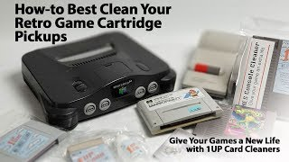 How to Best Clean Your Old Video Game Cartridges to Avoid Game Play Problems with 1Up Cards