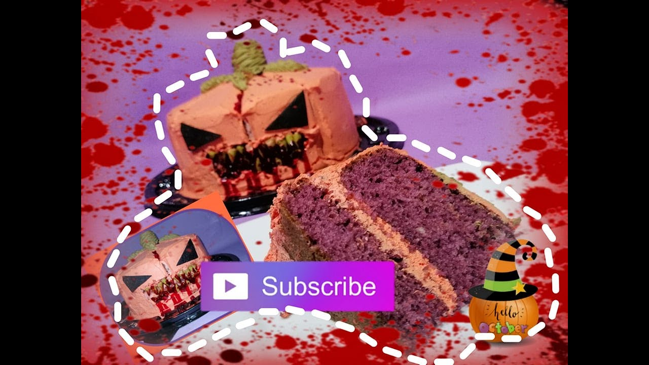 Idea de decoracion de pastel de halloween calabaza - Decoracion para halloween ...