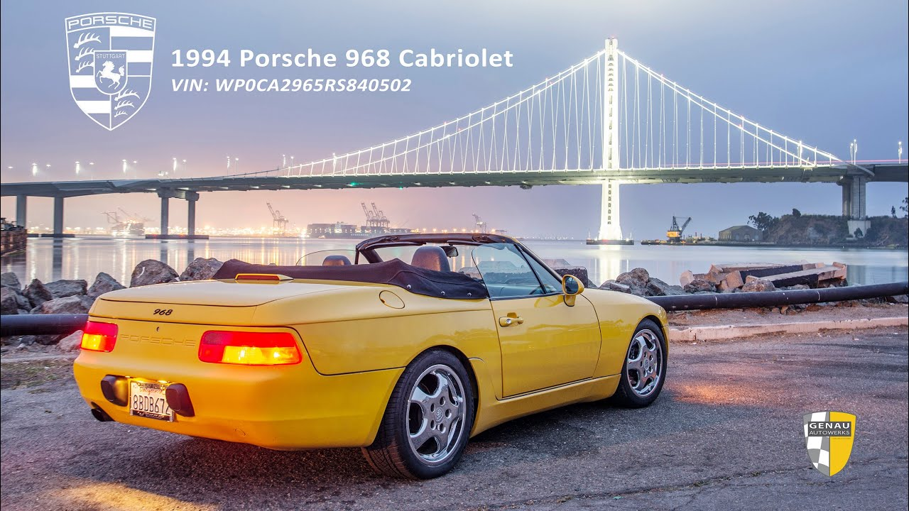 1994 Porsche 968 Cabriolet - SOLD on Bring A Trailer