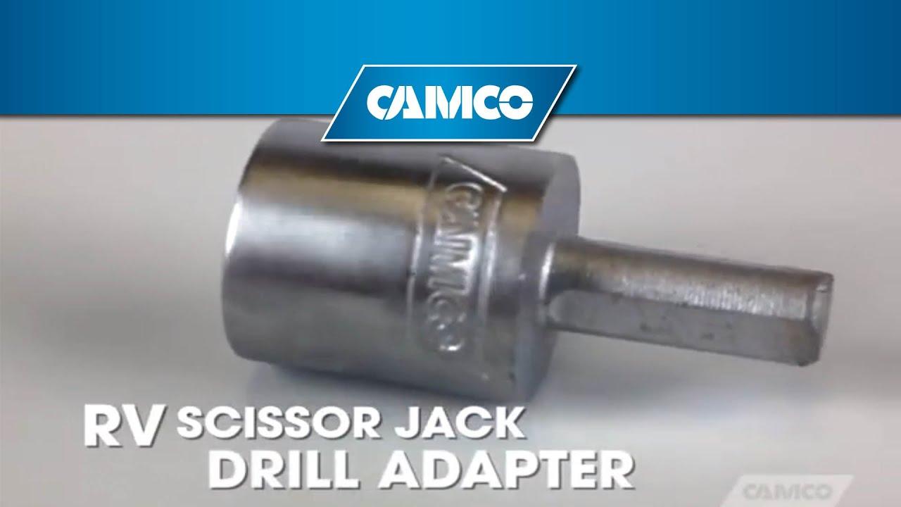 Scissor Jack Drill Adapter Youtube