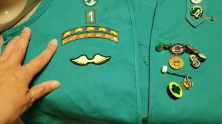 Girl Scout Junior Vest - Where and how to sew badges and patches