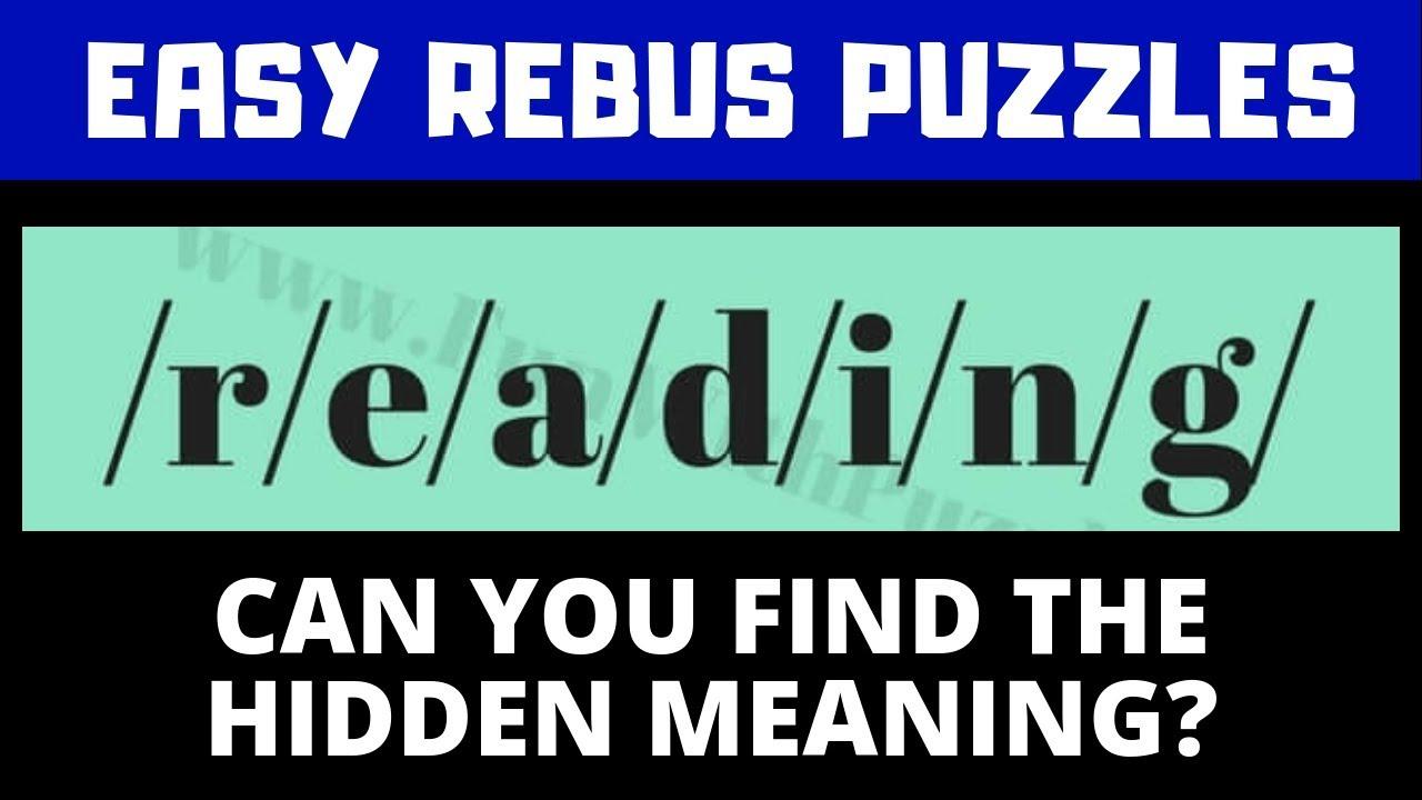 medium resolution of Rebus Puzzles For Kids - Bilscreen