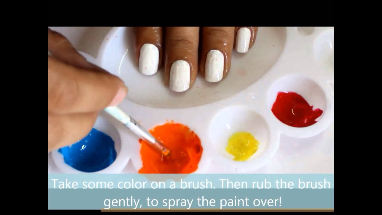 Spray Painting: Splatter Nail Art Designs l superWOWstyle - YouTube