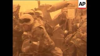 GWT: Royal marines firing artillery during sandstorm in push north