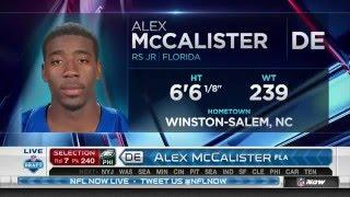 2016 NFL Draft Rd 7 Pk 240 | Philadelphia Eagles Select DE Alex McCalister
