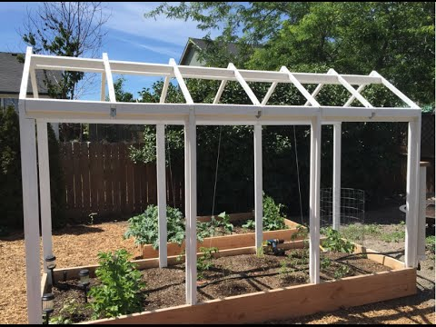 How To Build a Greenhouse Over a Raised Bed YouTube