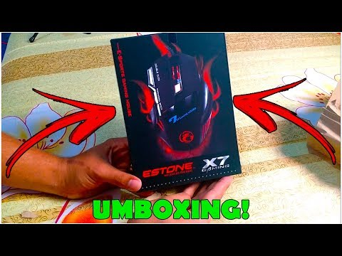 UMBOXING MOUSE ESTONE X7 COM GAMEPLAY TESTE ❮ Gaary ❯