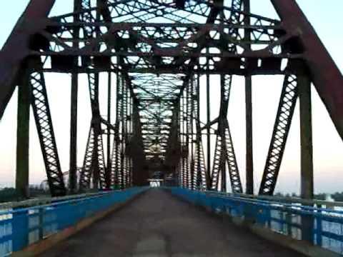 Abandoned Route 66 Chain of Rocks Bridge St Louis Missouri at Sundown