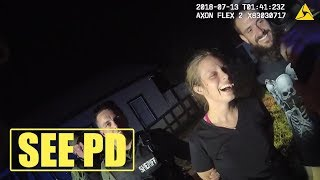 Handcuffed Suspects Smile for Photo With Police After Chase