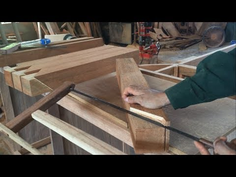 Amazing Build Skills Wood Joint Of Carpenter – Build Dinning Table With Perfect Joint