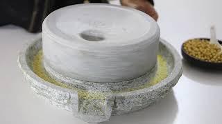 숫돌 분쇄기 고급 맷돌 미니 전통맷돌 사용방법