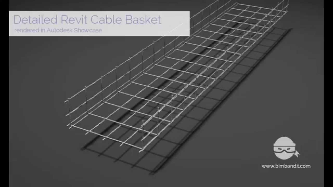 Revit parametric Wire Basket Cable tray family - YouTube