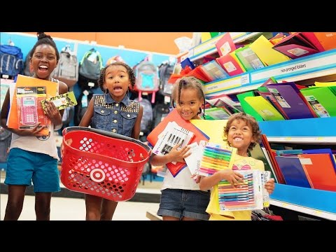 ✏️ BACK TO SCHOOL 📓 SUPPLY SHOPPING WITH 5 KIDS