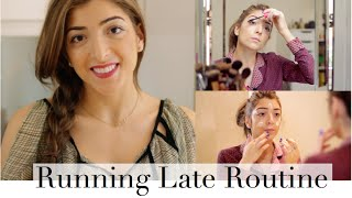My Running Late Routine - Quick Makeup, Hair & Outfit! | Amelia Liana Thumbnail