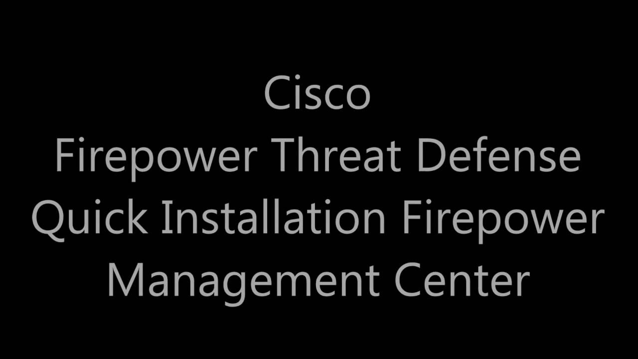 How to Deploy FirePOWER Management Center and FirePOWER Threat