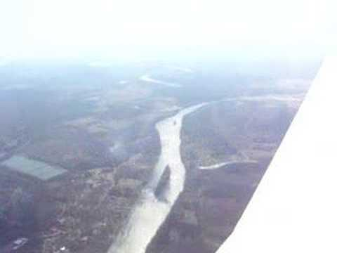 Flying over Childersburg, Alabama