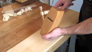 How To Set The Blade On A Wooden Plane.