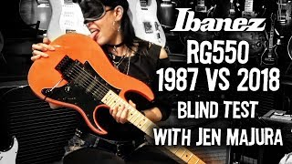 Ibanez RG550 1987 vs 2018 Genesis. Blind test with Jen Majura at #TGU18