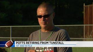 Tunstall head football coach David Potts retires from coaching