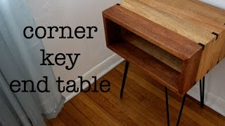 Corner Key End Table Featuring Rockler's Large Box Spline Jig By Hosey's Workshop