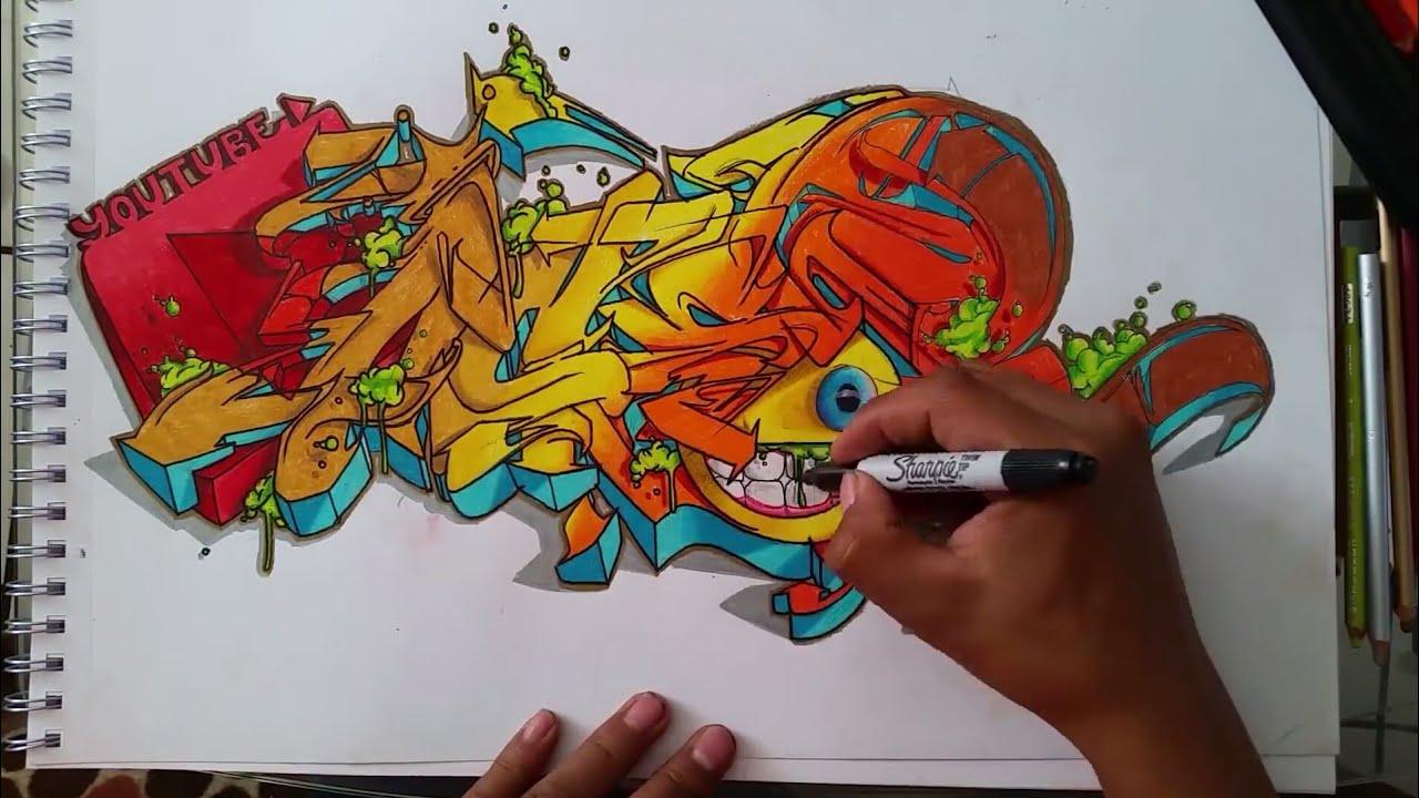 graffiti wild style sketch book 2017 logo de youtube ft emoji youtube. Black Bedroom Furniture Sets. Home Design Ideas