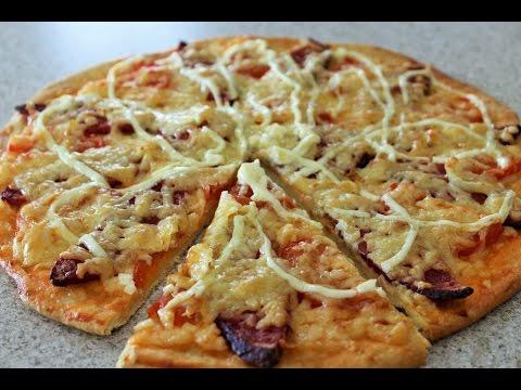 БЕЗДРОЖЖЕВОЕ ТЕСТО ДЛЯ ПИЦЦЫ. Быстрое тесто на пиццу без дрожжей, простой рецепт!