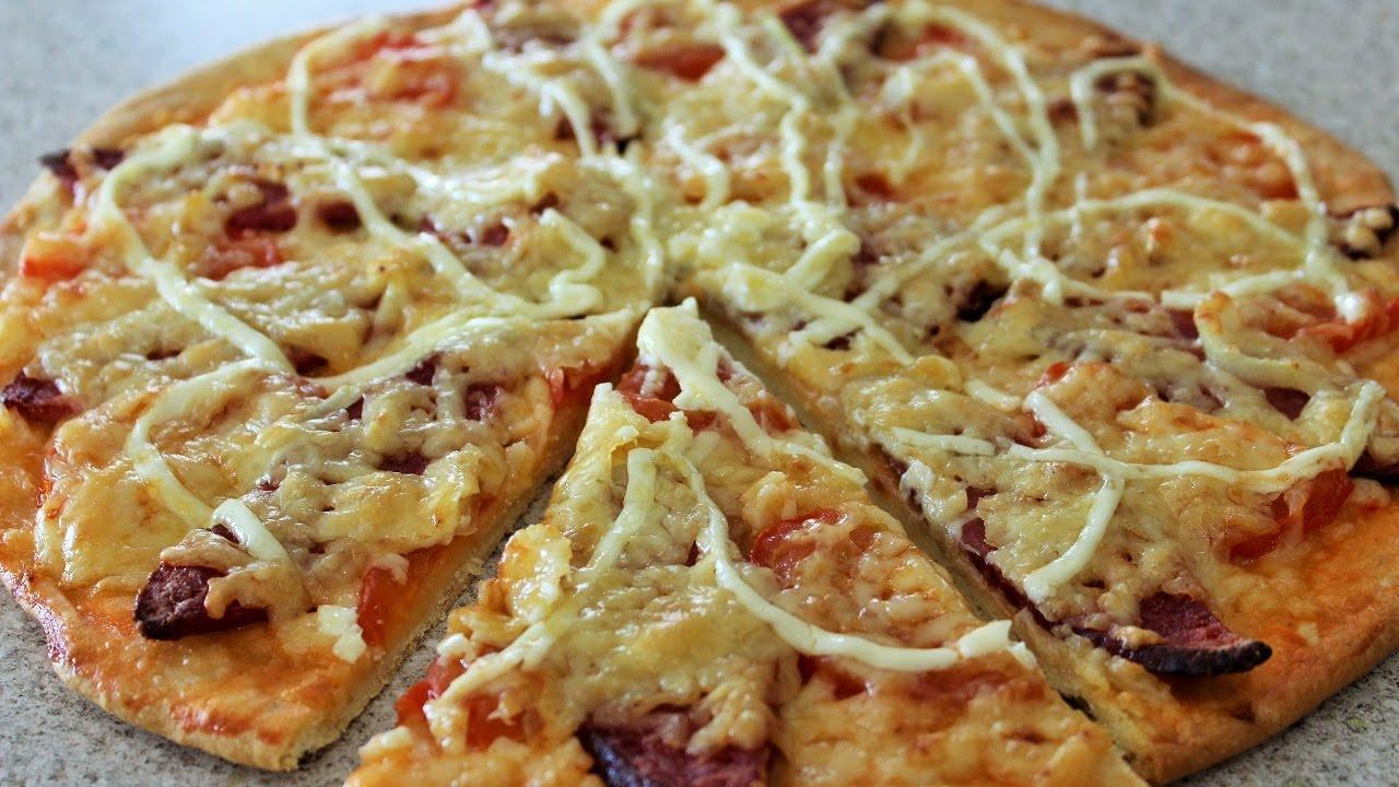 как приготовить пиццу в домашних условиях в духовке без дрожжей пошагово