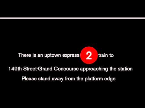 NYC Subway Special (2) To 149th Street-Grand Concourse Announcements