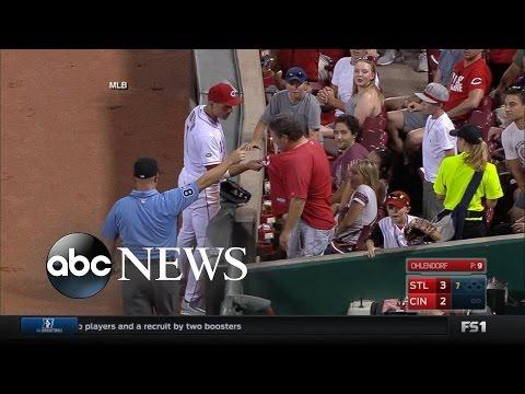 Joey Votto Confronts Fan, Then Apologizes