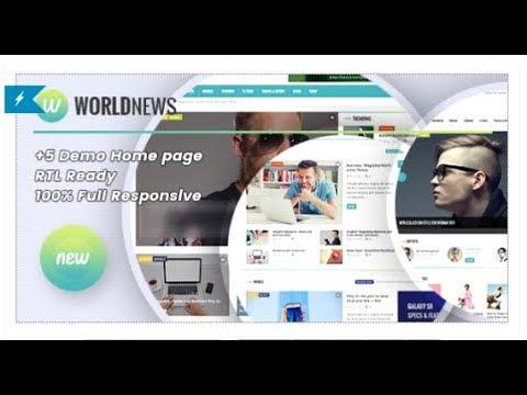 WorldNews - Blog\Magazine HTML Template | Themeforest Templates