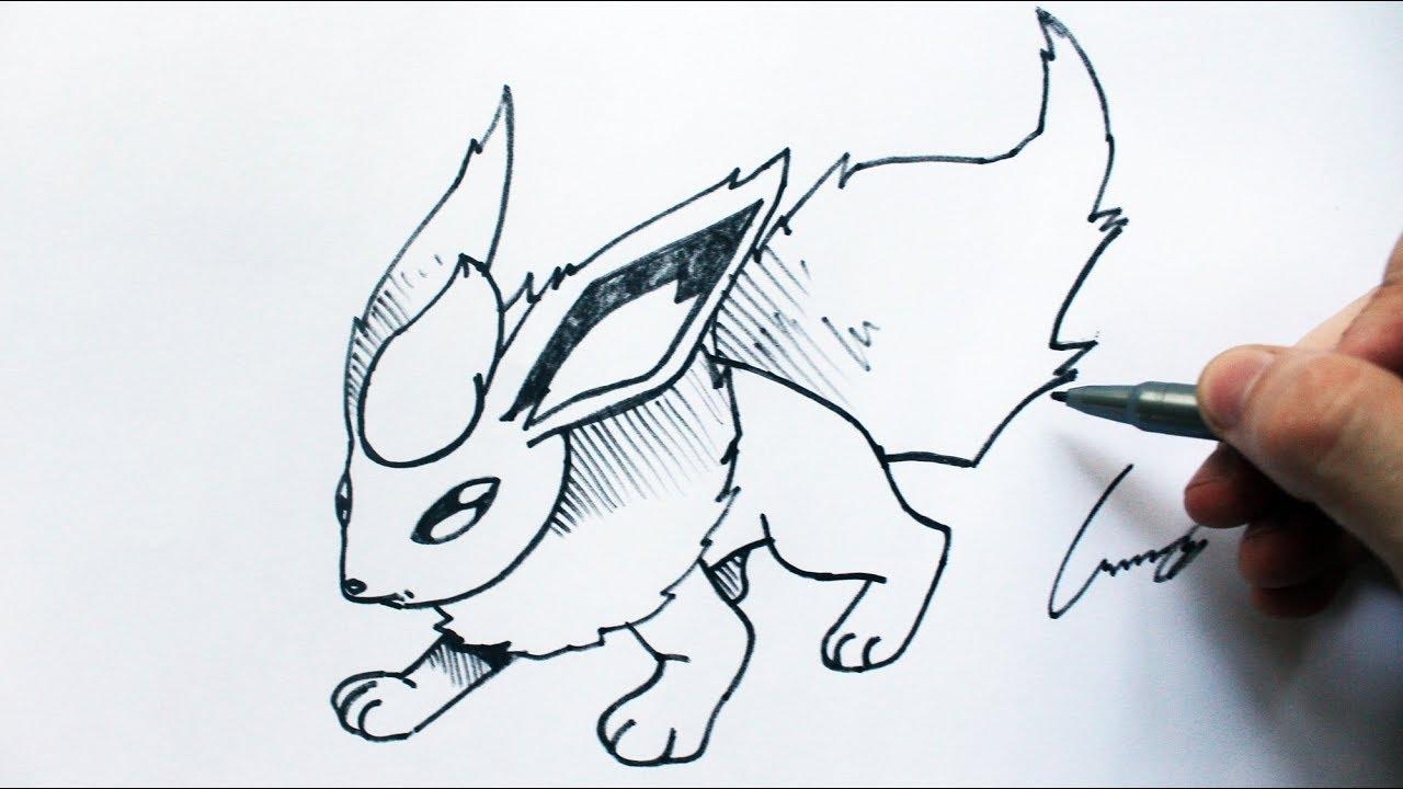 Como Desenhar Um Flareon Pokemon How To Draw Flareon