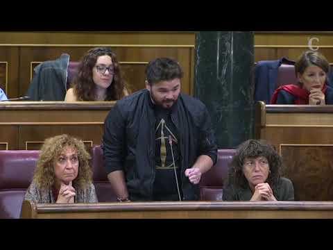 """Rufián a Rajoy: """"Saque sus sucias manos de Cataluña"""" y la respuesta del presidente"""