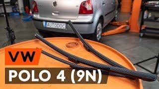 Vgradnja zadaj in spredaj Metlice brisalcev VW POLO: video priročniki