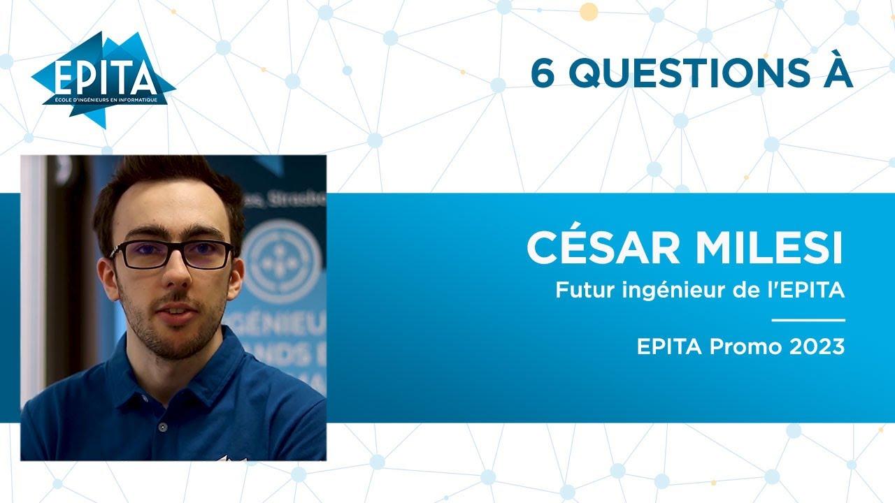 Download Portrait de César Milesi, futur ingénieur de l'EPITA