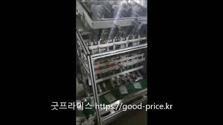 마스크팩 수직형 자동포장기 액상 정량충진기