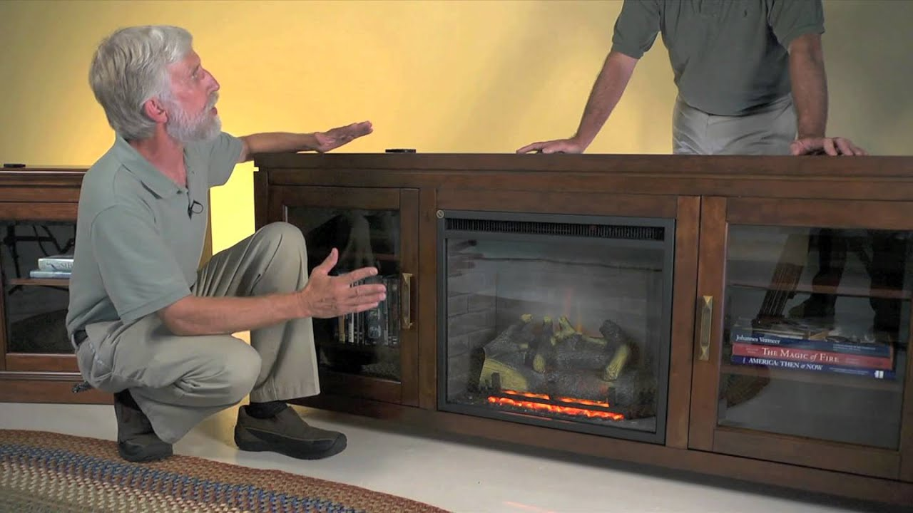 drew electric fireplace entertainment center plow u0026 hearth youtube