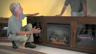 Drew Electric Fireplace Entertainment Center - Plow & Hearth