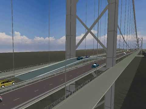Forth Road Bridge main expansion joint replacement - overbridge animation  from 2008