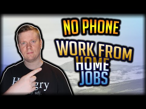 """""""No Phone"""" Work From Home Jobs For Introverts And Shy People"""